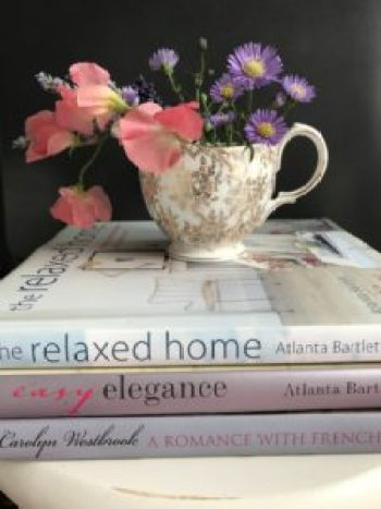 Coffee table books and charity shop jug 2 e1502633872426 225x300 - Books and China - Vintage and Thrifty Styling for the Home