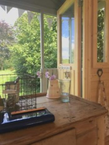 blogging from the desk e1504254436420 225x300 - The Shepherds Hut - decorating the inside of beautiful Belle