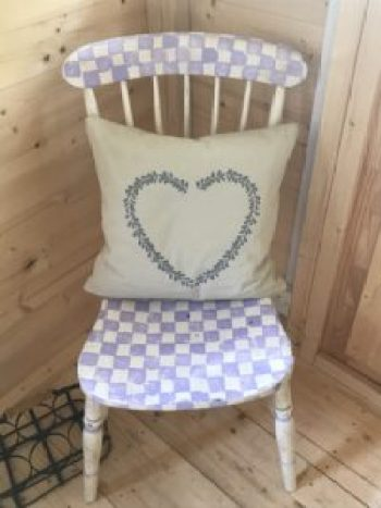 painted wooden chair in Shepherds Hut e1504357036828 225x300 - The Shepherds Hut - decorating the inside of beautiful Belle