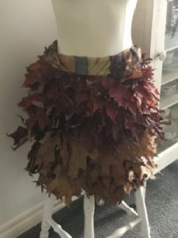 Doris autumn skirt crinkled 2 e1508335075506 225x300 - Autumn Decor - Decorating a Mannequin and a Pumpkin Obsession