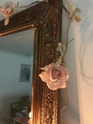 rose garland on brass mirror e1510583229219 225x300 - Faffing, the art of and another favourite pass-time in my world