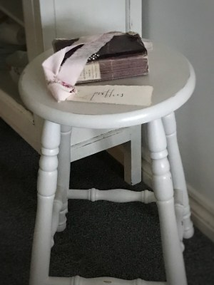 bar stool purple book and pretties tag 225x300 - Bar Stools - up-cycling and alternative uses around the home