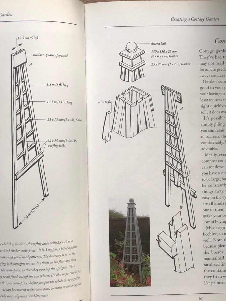 Cottage Garden Plans Part Two The Wooden Obelisk