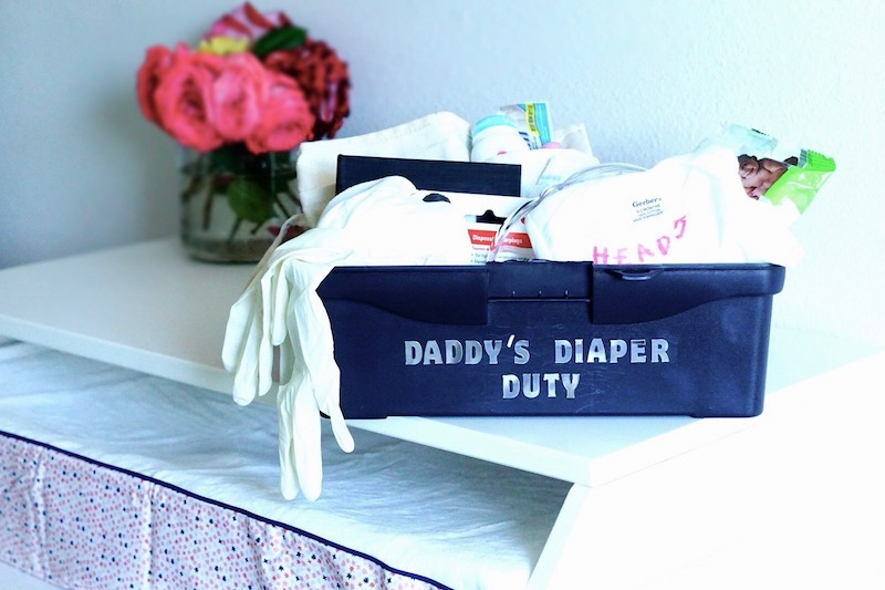 DIY Daddy's Diaper Duty Toolbox- The Perfect Father's Day Gift