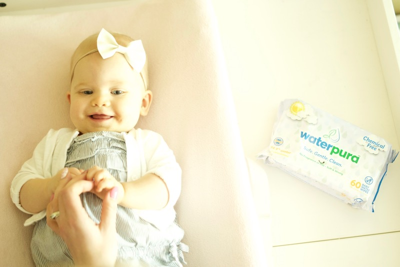 Made from ONLY 2 ingredients, I love having a wipe that I can feel comfortable about using on my Evie girl's delicate baby skin and WaterPura is just that!