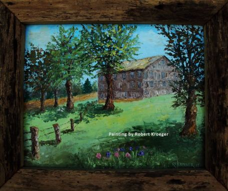 """Painting of Boggs barn titled """"The Boss"""""""