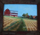 Painting of Drew barn titled