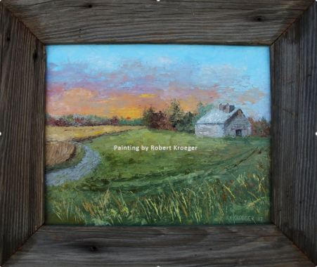"Painting of Wilkinson barn titled ""Galen's Gem"""