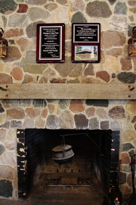 picture of the fireplace in the shelter house