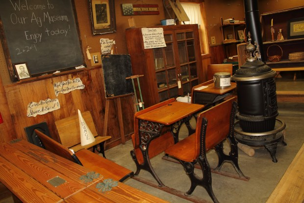 Picture of the one-room school house exhibit at the Whitley County Ag Museum