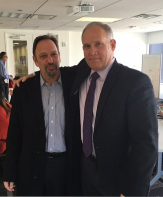 Phil with Norm Schulman, Managing Partner of Schulman Lobel