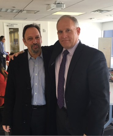 Phil with Norm Schulman, Managing Partner of Schulman Lobel