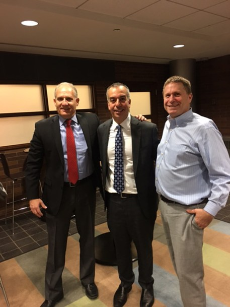 Phil and David with Tom Angelo, Managing Partner of Spire Group