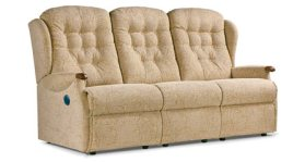 click to view sherborne lynton knuckle 3 seat powered reclining settee