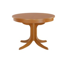 Classic Teak Circular Pedestal Dining Table with Sunburst Top