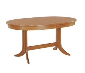 Classic Teak Large Oval Pedestal Dining Table