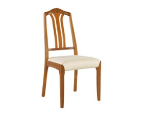 Classic Teak Slat-back Dining Chair