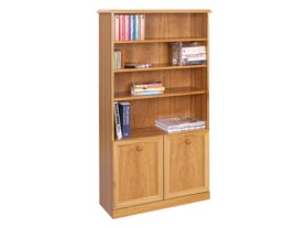 Trafalgar Bookcase with two doors and three shelves