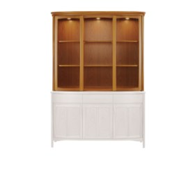 Shades Teak Shaped Glass Display Unit