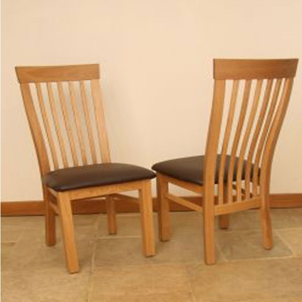 click to view andrena tall slatback dining chairs