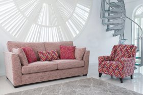 click to view alstons grand sofa and claudia chair