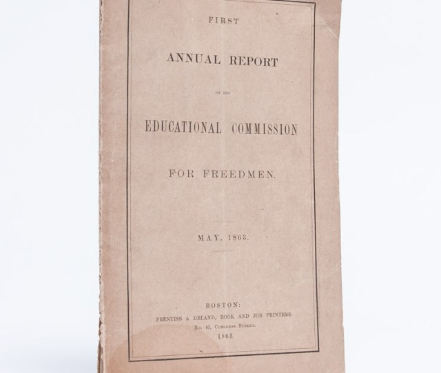 First Annual Report Of The Educational Commission For Freedmen  C2 B7 First Annual Report Of The Educational