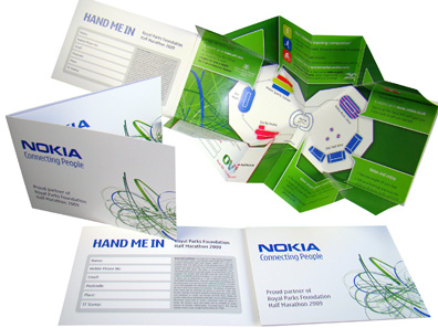 Pop Up Paper Folding Starburst Interactive Mailers