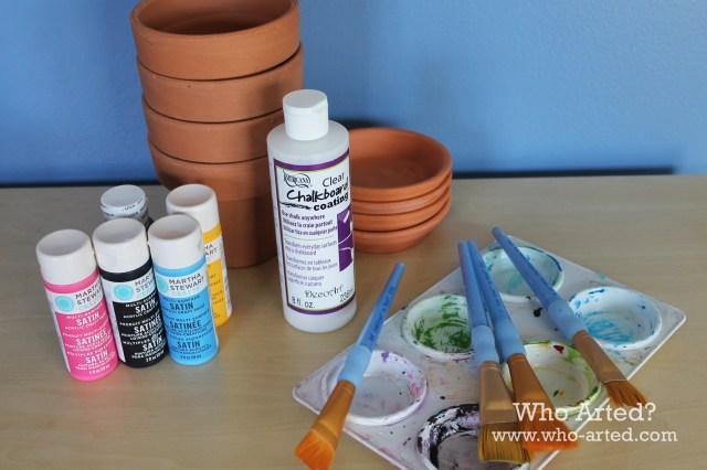 Chalkboard Flower Pots 01