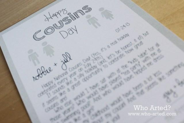 Cousins Day 04