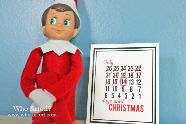 Elf on the Shelf Countdown Cards 02