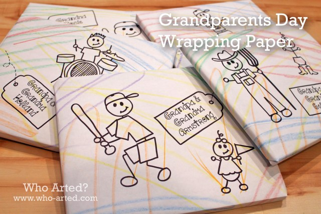 Grandparents Day Wrapping Paper 00