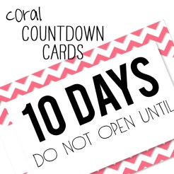 Birthday Countdown Cards Mini Coral Who Arted Template Thumbnail