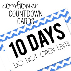 Birthday Countdown Cards Mini Cornflower Who Arted Template Thumbnail
