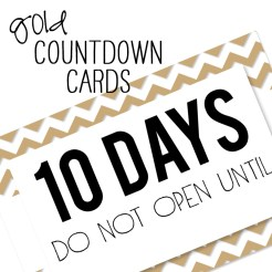Birthday Countdown Cards Mini Gold Who Arted Template Thumbnail
