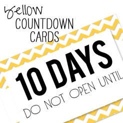 Birthday Countdown Cards Mini Yellow Who Arted Template Thumbnail