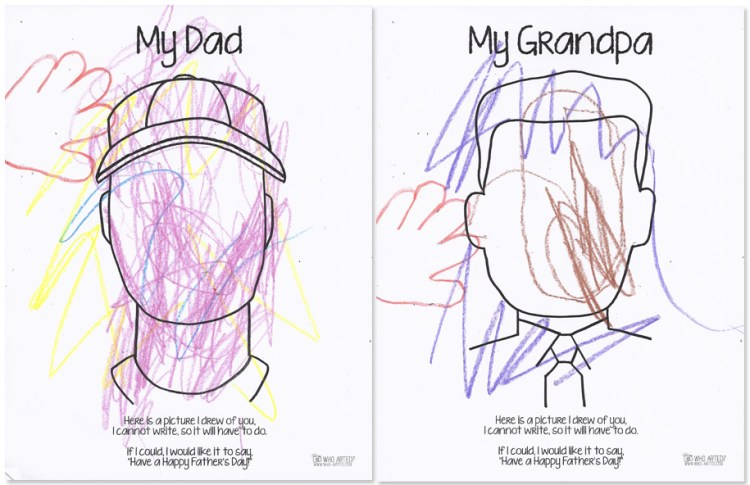 Father's Day Coloring Page Who Arted 06