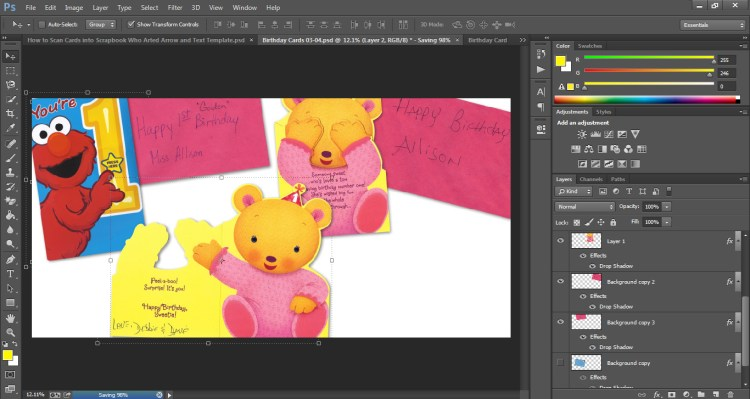 How to Scan Cards into Scrapbook Who Arted 16