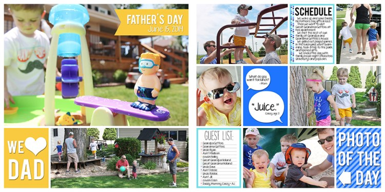 Project Life Father's Day Who Arted 08