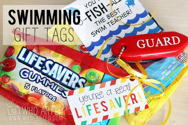 Swimming Instructor Gift Tags Who Arted 00
