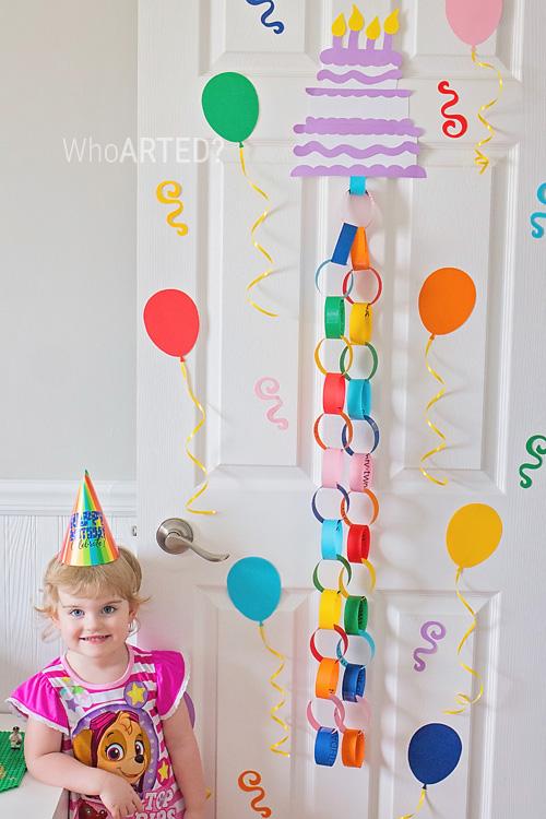 Birthday Cake Countdown Chain