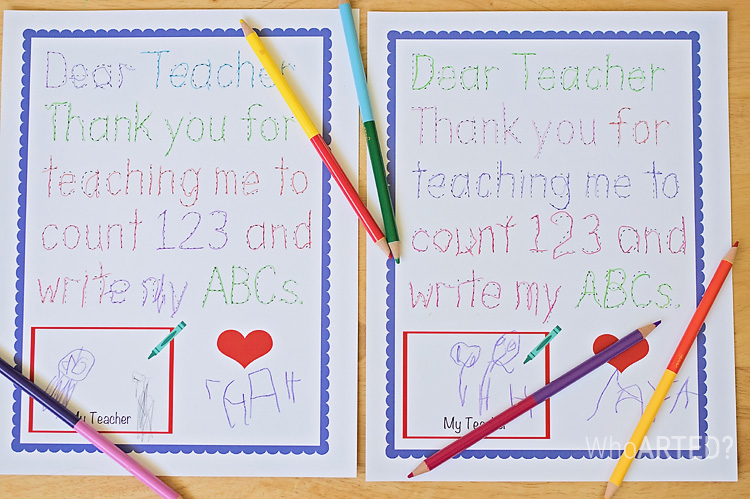 image relating to Teacher Thank You Printable called Traceable Instructor Appreciation Thank Your self printable Who