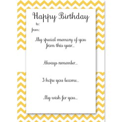 Birthday Memory Cards Yellow Who Arted Thumbnail