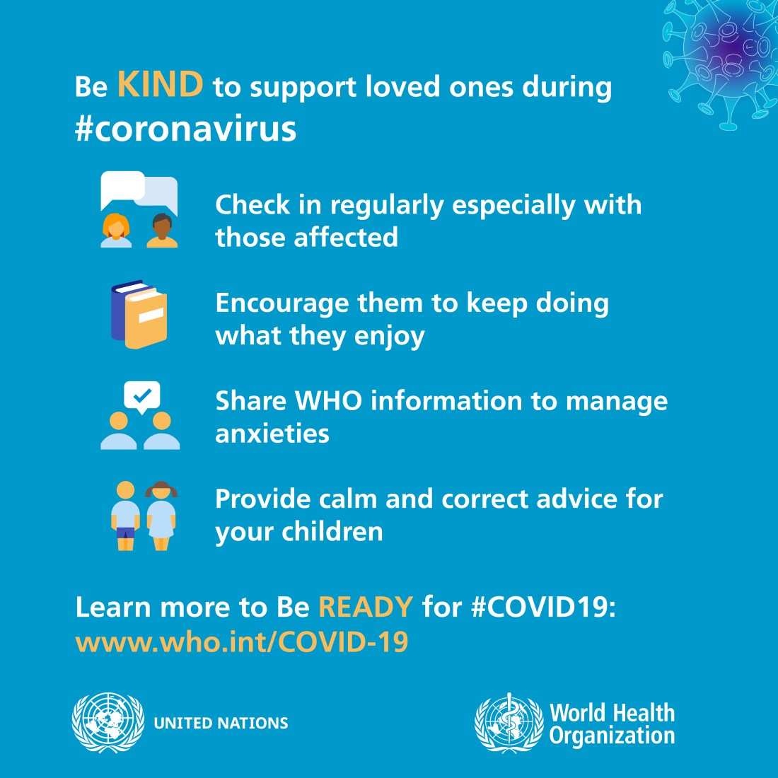 Coronavirus Basic Protective Measures- Be kind and supportive