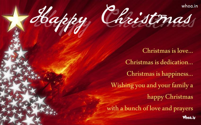 Happy Merry Christmas Greeting Cards With Christmas Lights