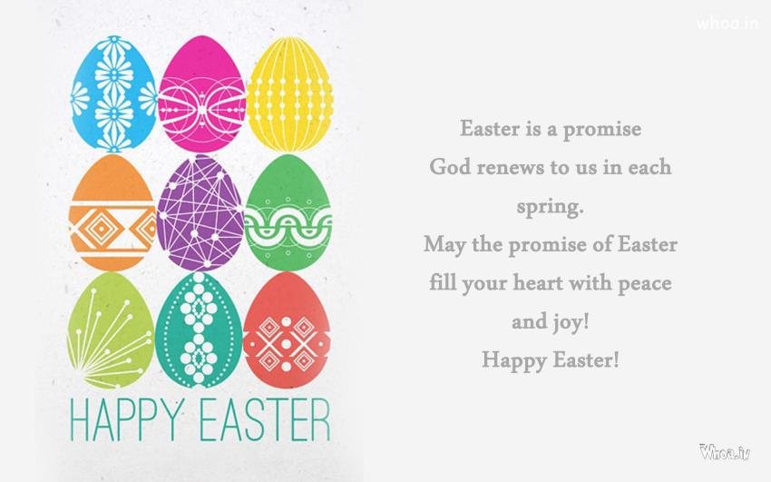 Easter Greetings In White Background And Quote Wallpaper