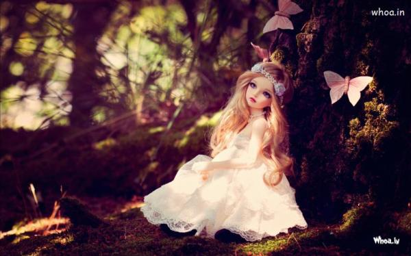 Cute Little Doll Girl Waiting Her Love HD Love Wallpaper