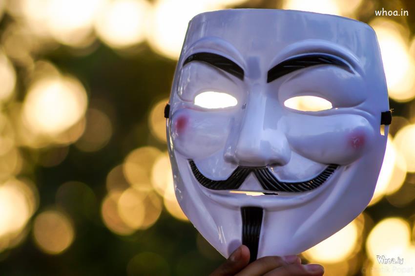 Smiling Joker Mask Photoshoot
