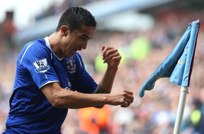 "Tim Cahill (Everton) Mostly for that dorky ""punch the corner flag"" goal"