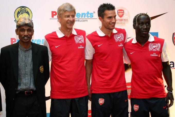 Rajagopal, Wenger, Van Persie and Sagna