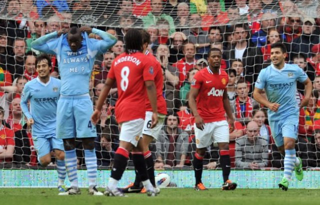 Image result for Man Utd 1-6 Man City, October 2011